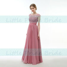 New One shoulder Full Length Chiffon Party Evening Wedding Bridesmaid Dress JS03