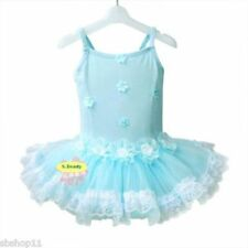 NWT Girls/Kids/Childs Tutu Dance Ballet Dresses Leotards Sleeveless Blue 2T-6T