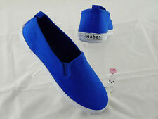 Raben Shoes Slip On Canvas - Fluo Blue - Size From 30 To 46
