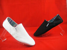 Raben Shoes Mens Tokyo Canvas Slip On Black or White size from Euro 40 to 47