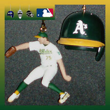 MLB OAKLAND ATHLETICS FIGURE & BATTING HELMET OR LOGO BASEBALL CEILING FAN PULL
