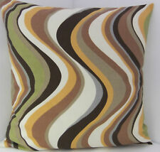 RETRO GREEN BROWN FAWN GREY 60'S DESIGN CUSHION COVERS
