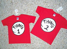 DR. SEUSS THING 1 2 3 4 5 6 T SHIRT NB/YOUTH/ADULT SALE