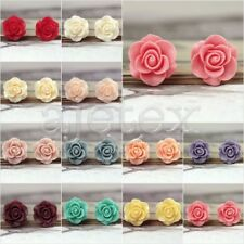 Resin Vintage Style Rose Flower Cabochon cameo Flatback choose 21x21x9.5mm