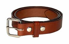 "1 1/4"" WIDE AMISH HAND MADE DRESS BELTS - 10 OZ LEATHER- BLACK, BROWN. 32"" - 60"""