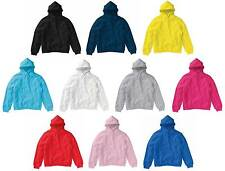 Kids Hoodie 3-12 Years 10 Colours Available Plain Hooded Sweatshirt No Zip