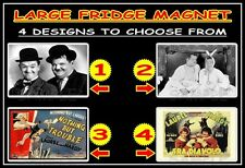 LAUREL AND HARDY f24m LARGE FRIDGE MAGNET CHOICE OF 4