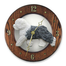 Old English Sheepdog Oak Wall Clock.In Home, kitchen,Living Room or Den Products