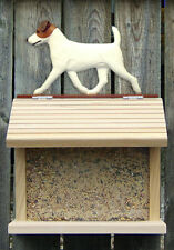 Bird feeder W/ Jack Russell Dog Figure on Peak. Home Decor Dog Products & Gifts.