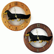 Dachshund Long Hair Oak Wall Clock. In Home,Kitchen, Living Room or Den Products