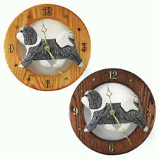 Havanese Oak Wall Clock. In Home, kitchen, Living Room or Den Products & Gifts.