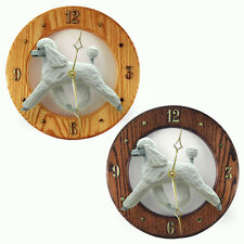 Poodle Oak Wall Clock. In Home, kitchen, Living Room or Den Products & Gifts.