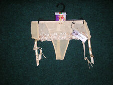 ENVIE SKINTONE SUSPENDER BELT WITH ATTACHED THONG - VARIOUS SIZE BNWT !!!