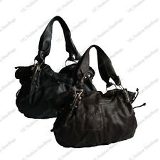 NEW FASHION HOBO SHOULDER BAG IN BLACK DARK BROWN