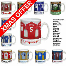 Personalised Football Dressing Room Mugs (preview most clubs) CHRISTMAS SPECIAL