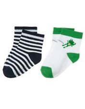 GYMBOREE HOP TO IT FROG N STRIPE 2-PAIR OF BOYS SOCKS 0 3 6 12 18 24 NWT