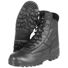 COMBAT MENS PATROL SECURITY TACTICAL MIL-COM ARMY POLICE BOOTS ALL LEATHER BLACK