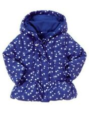 GYMBOREE SHIMMER & TWIRL BLUE SNOW HOODED PUFFER JACKET 6 12 24 2T 3T 4T 5T NWT