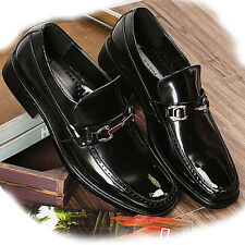New Mens Dress Formal Leather Shoes Buckle Loafers Slip On Black Shoe Elegant