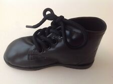 BLACK LEATHER LIKE HITOP HIGH Dress Casual SHOES Boys Infant Toddler 1 to 10 NIB