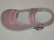 PINK SATIN SHEEN MARY JANE WITH BOW Girls Infant and Toddler Sizes 1 to 10 NEW