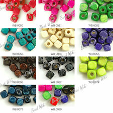 280 Loose Wood Wooden Cube Spacer Charms Beads 6x6mm Jewelry Findings Wholesale
