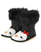 GYMBOREE WINTER PENGUIN  PENGUIN DOT FAUX FUR BOOTS 5 6 8 9 NWT-OT