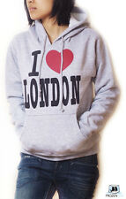 I Love London Hoodie | Sweatshirt | Grey | for Women & Teenager | size XS to XL