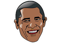Barack Obama USA President Cartoon Face Funny Cool T-Shirt Tee New