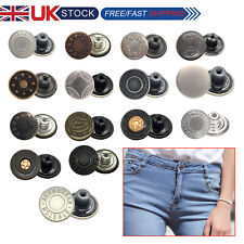 8 x 17mm Jean Stud Buttons in Gun Metal with Pins (Hammer on)  & 4 other colours