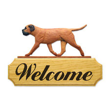 Bullmastiff Welcome Sign. Home,Yard & Garden Dog Wood Signs Products & Gifts.