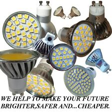 GU10  E14  MR16  20*24*60* SMD & COB LED  *DIMMABLE *COLOUR  DAY & WARM  WHITE