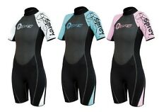 OSPREY OSX LADIES SHORTIE WOMENS SHORTY WETSUITS PINK BLUE WHITE XS - XL