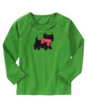 GYMBOREE CHEERY ALL THE WAY GREEN SCOTTIE DOG BOW TEE 3 4 5 6 7 8 9 10 12 NWT
