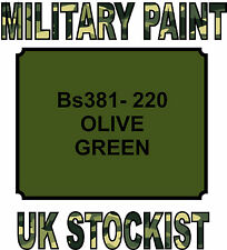 BS381-220 OLIVE GREEN MILITARY PAINT METAL STEEL HEAT RESISTANT ENGINE  VEHICLE