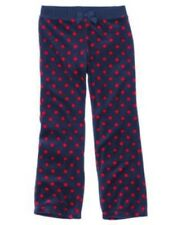 GYMBOREE HOMECOMING KITTY NAVY RED DOT VELOUR PANTS 3 4 5 6 7 8 10 NWT