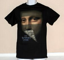 THE DA VINCI CODE Mystery Detective Movie Tom Hanks Adult BLACK T SHIRT S L New