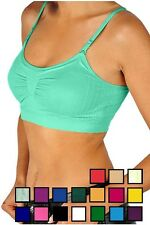 SEAMLESS YOGA GYM SPORTS BRA,TANK TOP,  REMOVEABLE LIGHT BRA PAD,  WITH STRAPS