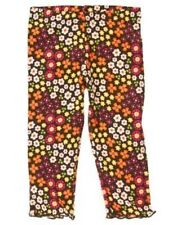 GYMBOREE FALL FOR AUTUMN BROWN FLORAL LEGGINGS 6 12 5T NWT