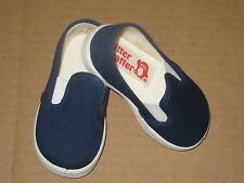 NAVY BLUE CANVAS SLIPON SHOES Boys or Girls Infant and Toddler Sizes 1 to 10 NEW