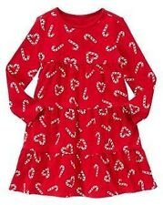 NWT Gymboree sz 5  COZY CUTIE Red Knit Candy Cane Heart Dress Holiday