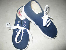 Adorable NAVY BLUE SNEAKERS Canvas Oxfords Boys or Girls Infant & Toddler  NEW