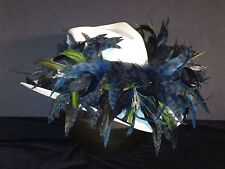 Seattle Seahawks Exotic Feather Team Colors Cowboy Hat - Hand Made - SALE
