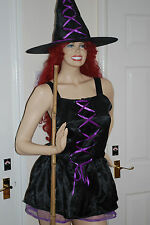 Sexy Purple Ribbon Witch costume, with hat.  Great quality Halloween BARGAIN!!!!