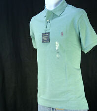 NWT Polo Ralph Lauren Men's Custom Fit Mesh Polo Shirt XXL 2XL / Clay Green