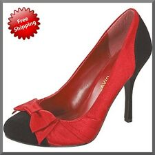 WOMENS NEW RED SATIN PARTY DRESS WEDDING HIGH HEELS PUMPS LADIES SHOES AU SIZES