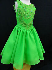New Baby Girl National Pageant Glitz Wedding Formal Party Dress size 1-7 Lime
