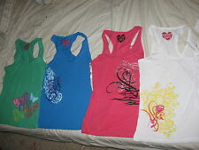 Juniors Sweet Tart Tank Top Shirt S M L XL Pink White Blue Green NWT