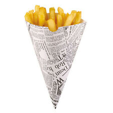 """Affiche style fish & chips frites journal cônes-barbecues partie chips """""""