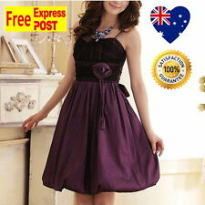 Girls Party Dress Size 10 to 16 Purple & Black Bubble Wedding Formal Girls Dress